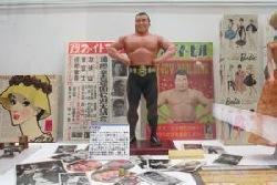 力道山の人形。コレクションは次世代受け継がれていく